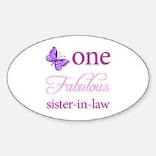 One Fabulous Sister-In-Law Sticker (Oval)