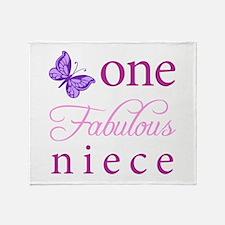 One Fabulous Niece Throw Blanket