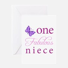 One Fabulous Niece Greeting Card