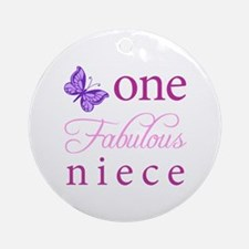 One Fabulous Niece Ornament (Round)