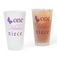 One Fabulous Niece Drinking Glass