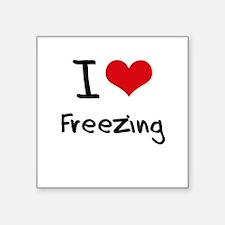 I Love Freezing Sticker