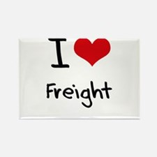 I Love Freight Rectangle Magnet