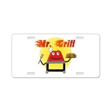 Mr. Grill Aluminum License Plate