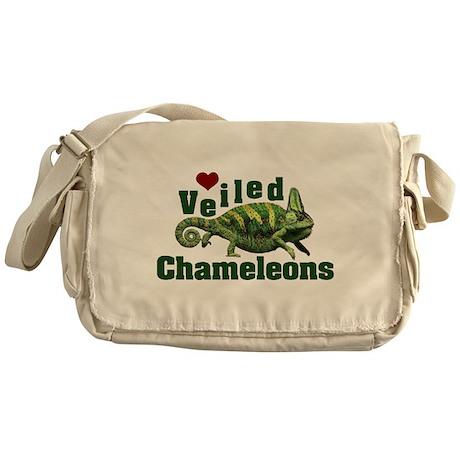 Love Veiled Chameleons Messenger Bag