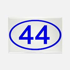 Number 44 Oval Rectangle Magnet