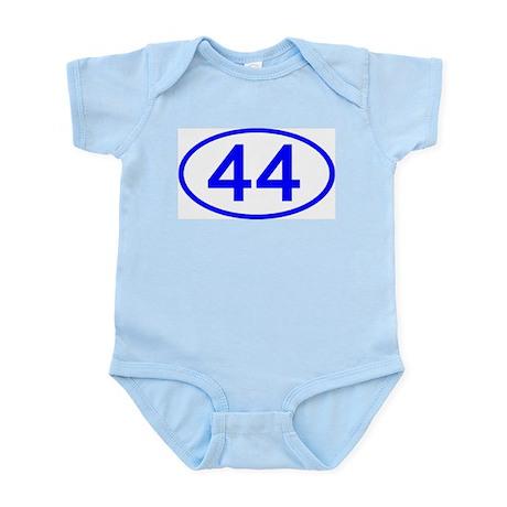 Number 44 Oval Infant Bodysuit