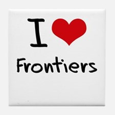 I Love Frontiers Tile Coaster