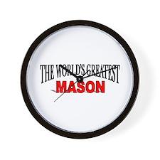 """""""The World's Greatest Mason"""" Wall Clock"""