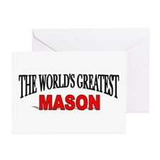 """The World's Greatest Mason"" Greeting Cards (Packa"