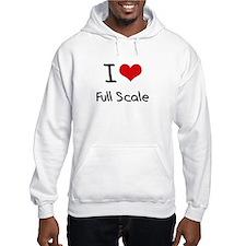 I Love Full Scale Hoodie