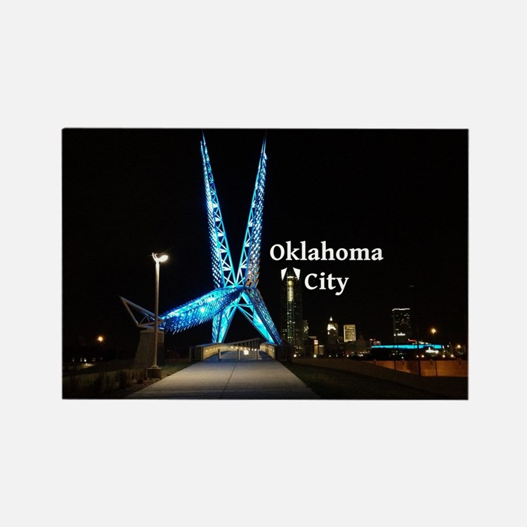 Oklahoma City Rectangle Magnet