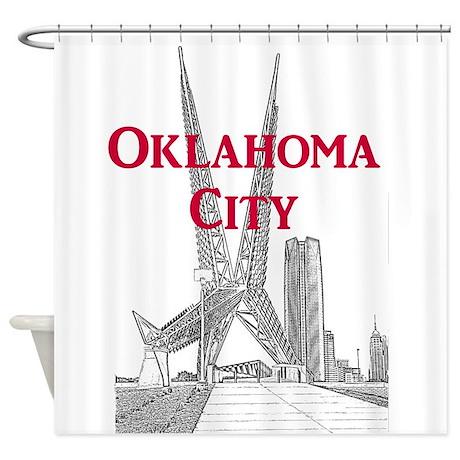 Oklahoma City Shower Curtain By Okc Ok
