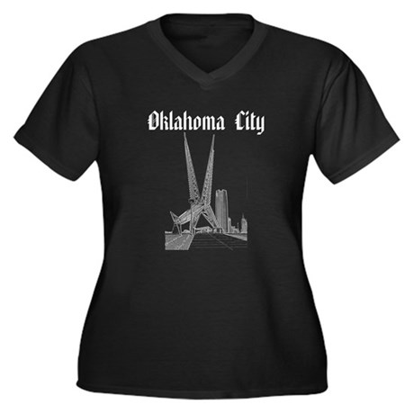 Oklahoma City Women's Plus Size V-Neck Dark T-Shir