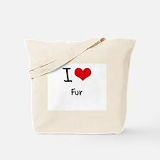 I Love Fur Tote Bag