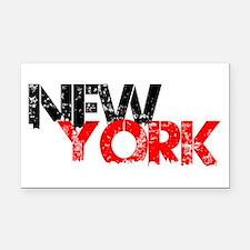 New York Rectangle Car Magnet