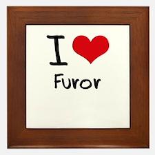 I Love Furor Framed Tile