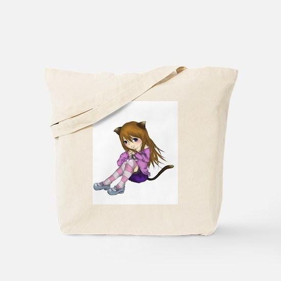 Chibi Cat Tote Bag