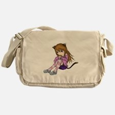 Chibi Cat Messenger Bag