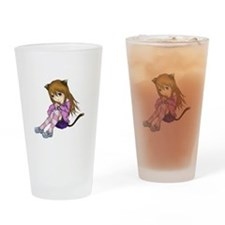 Chibi Cat Drinking Glass