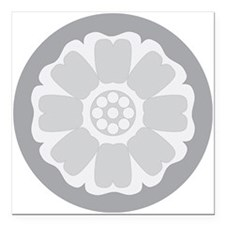 "White Lotus Tile Square Car Magnet 3"" x 3"""