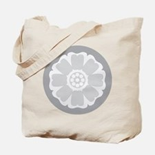 White Lotus Tile Tote Bag