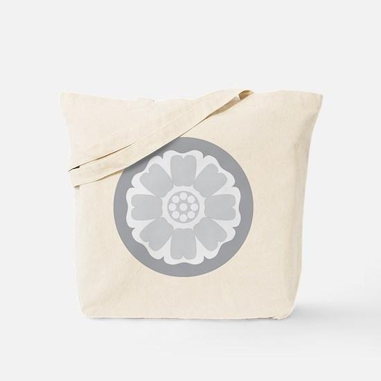 White Lotus Tile Tote Bag