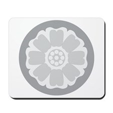 White Lotus Tile Mousepad
