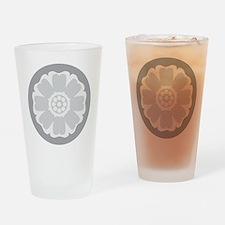 White Lotus Tile Drinking Glass