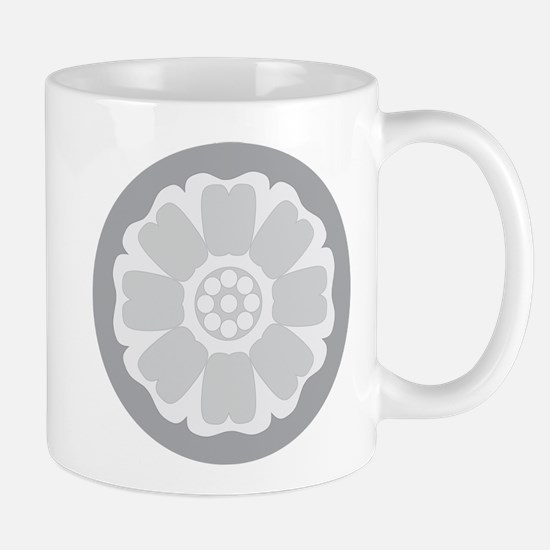 White Lotus Tile Mug