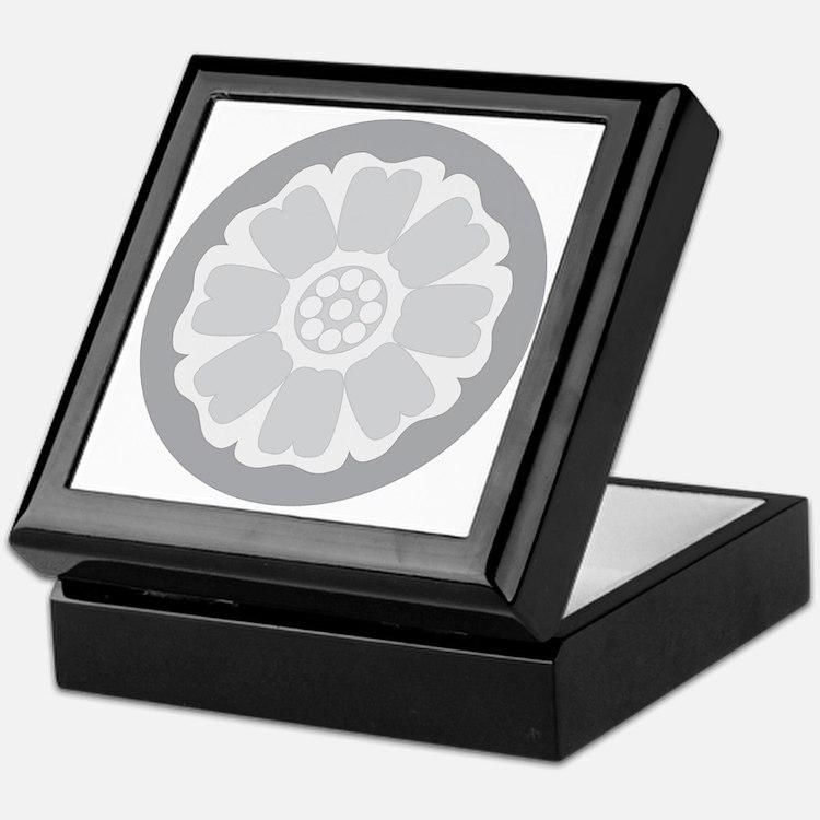 White Lotus Tile Keepsake Box