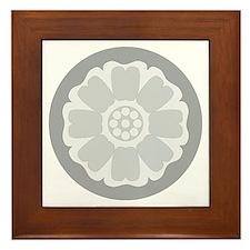 White Lotus Tile Framed Tile
