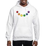 Rainbow Baubles Hooded Sweatshirt