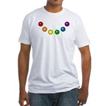 Rainbow Baubles Fitted T-Shirt