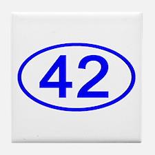 Number 42 Oval Tile Coaster