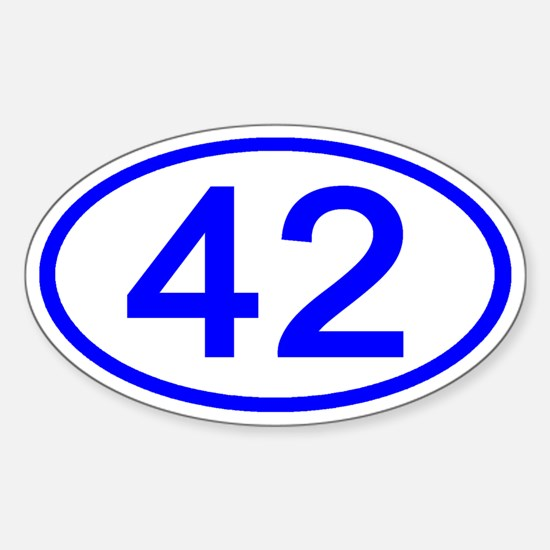 Number 42 Oval Oval Decal
