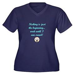 Kicking humor maternity Plus Size T-Shirt