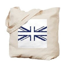 """""""Navy Lines Union Jack"""" Tote Bag"""