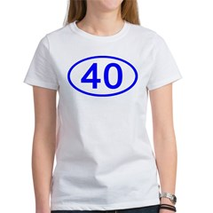 Number 40 Oval Women's T-Shirt