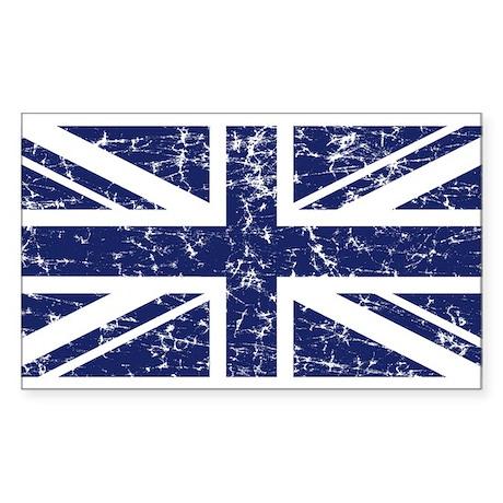 """""""Navy Union Jack"""" Rectangle Sticker"""