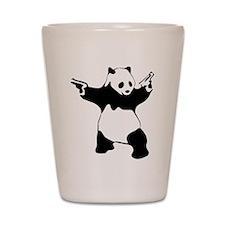Panda guns Shot Glass