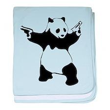 Panda guns baby blanket