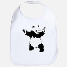 Panda guns Bib