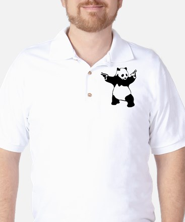 Panda guns Golf Shirt