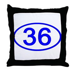 Number 36 Oval Throw Pillow