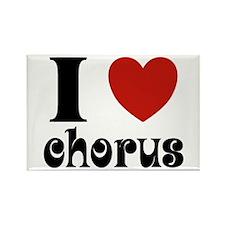 I Love Heart Chorus Rectangle Magnet