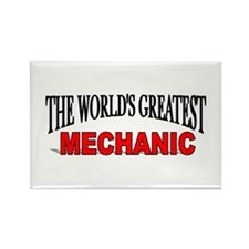 """The World's Greatest Mechani Rectangle Magnet"