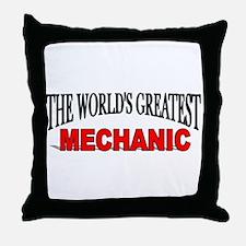 """The World's Greatest Mechani Throw Pillow"