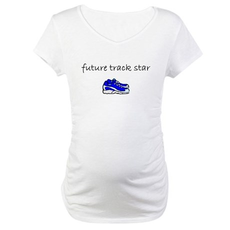 future track star.bmp Maternity T-Shirt