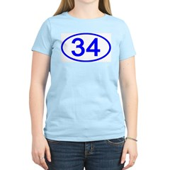 Number 33 Oval Women's Pink T-Shirt